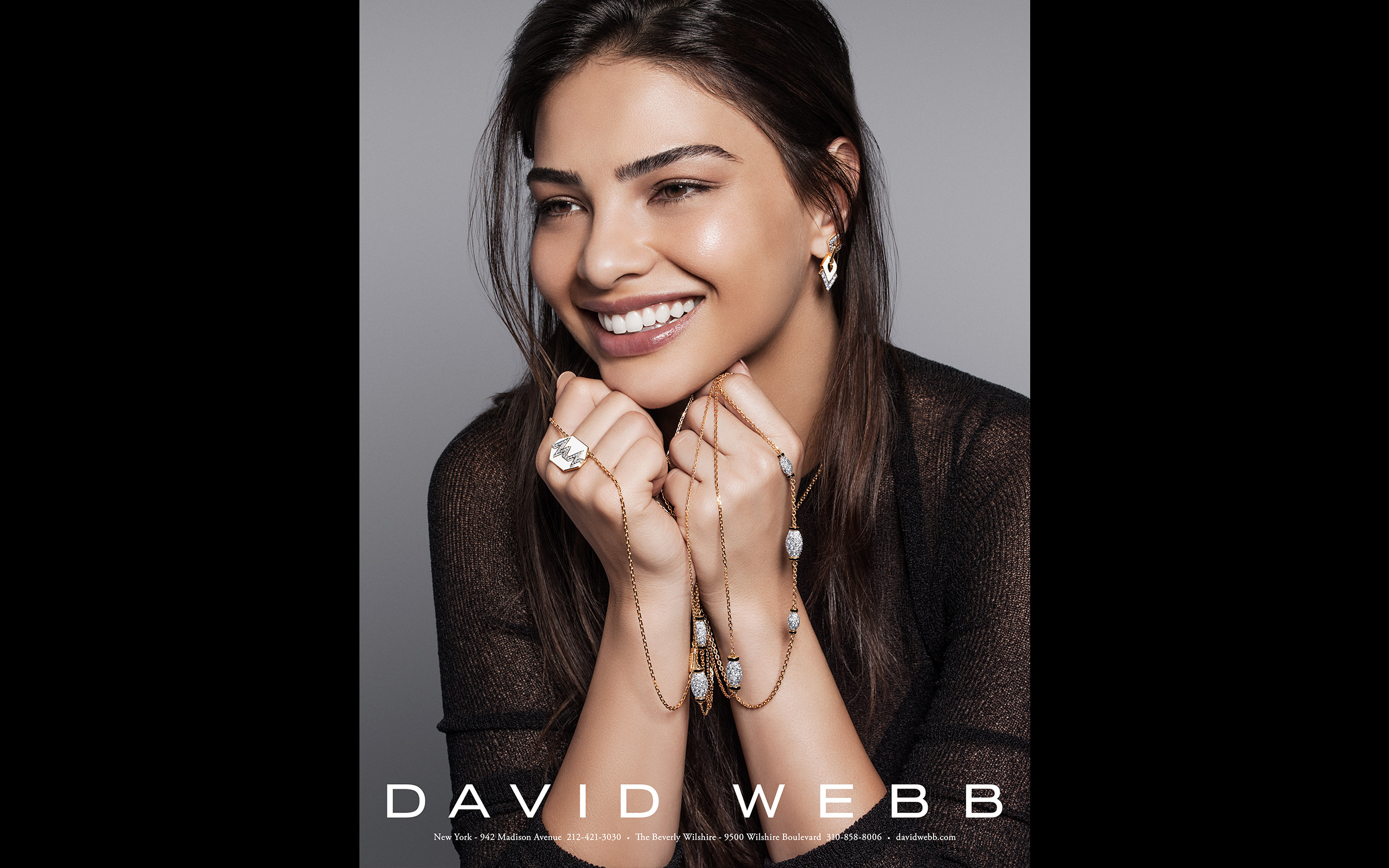 Jewelry Advertising campaign photography for David Webb by Zachary Goulko