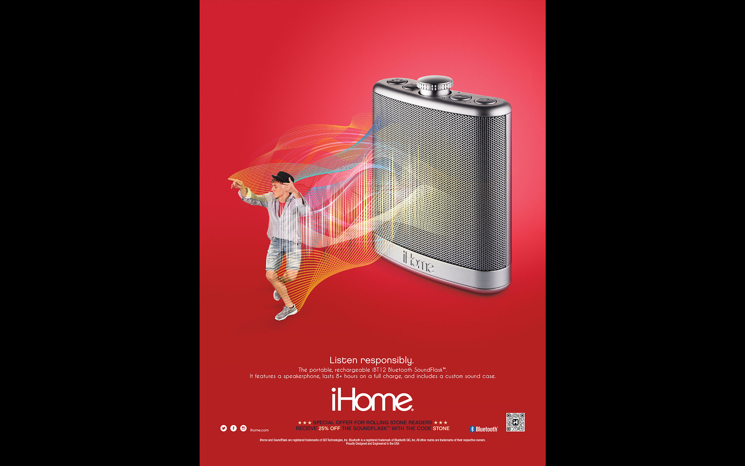 Product and still life photography for iHome advertising campaign.